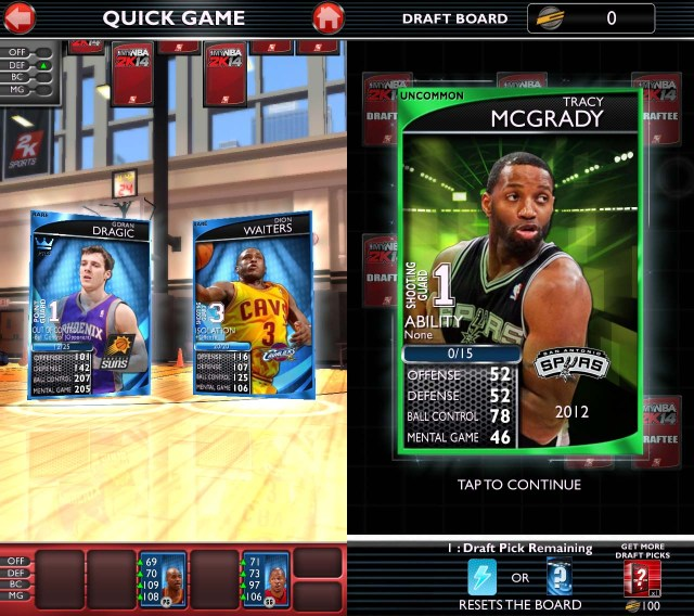 It's Goran Dragic vs Dion Waiter for the right to pick  up an uncommon Tracey McGrady. I saw of lot of him.