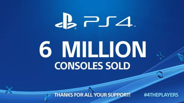6 Million PS4s Sold